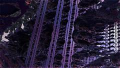 Fractal city purple flight path Stock Footage
