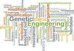 Genetic engineering background concept - stock illustration