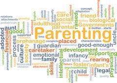 Parenting background concept Stock Illustration