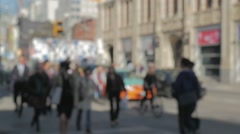 Toronto Busy City Intersection Blurred People Slow Motion 96fps Wide Arkistovideo