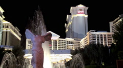 Replica of the Nike of Samothrace at the Caesars Palace hotel and casino Stock Footage