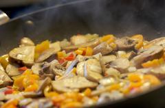 Mushroom and Vegetable Saute? - stock photo
