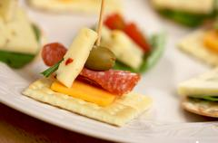 Cracker Appetizers - stock photo