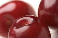 Macro Cherries - stock photo