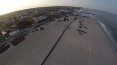 New Jersey Beach Restoration Stock Footage
