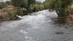Waterfall Duden at Antalya, Turkey - nature travel background - stock footage
