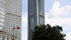International Finance Centre - building located in the central district of Hong Stock Footage