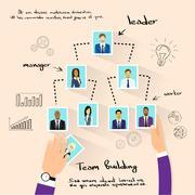 Team Building Concept Hands Photos Business Person - stock illustration