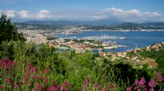 The town La Spezia in Italy Stock Footage