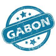 Stock Illustration of GABON round stamp