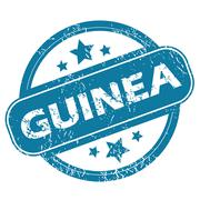 Stock Illustration of GUINEA round stamp