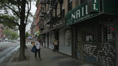 East Village Stock Footage Closed Down Stock Footage