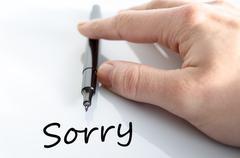 Sorry Concept Stock Photos