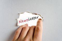 Newsletter concept Stock Photos