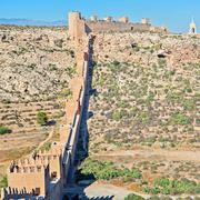 Moorish Castle, Almeria, Andalusia, Spain - stock photo