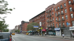 East Village Stock Footage Storefronts on 1st Avenue Stock Footage