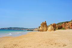 Praia da Rocha in Portimao, Algarve, Portugal - stock photo