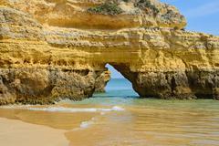 Cliff in praia da Rocha, Algarve, Portugal - stock photo