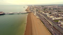Ariel view of Brighton 4K - stock footage