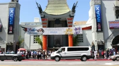 4K Hollywood Chinese Theatre Stock Footage