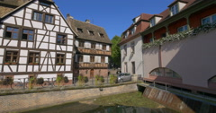 Strasbourg old houses Stock Footage
