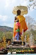 Stock Photo of Shiva statue of Vat Phou or Wat Phu at Pakse in Champasak, Laos