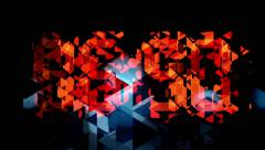 Graphic colorful animation of de-structured counter becoming net at the end Stock Footage