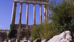 Temple of Saturn in the Forum in Rome, Italy 4K Stock Video Footage Stock Footage