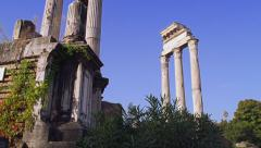 The Temple of Vesta in the Forum in Rome, Italy 4K Stock Video Footage Stock Footage