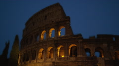 The Roman Coliseum At Night in Italy, 4K Stock Video Footage Stock Footage