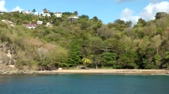 St. Lucia Caribbean Sea 147 varied shore impressions seen from water - stock footage