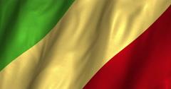 Congo Brazzaville waving flag 4K Stock Footage