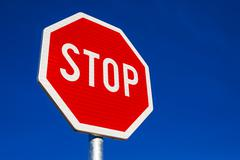 Stop Sign as Traffic Signalization Stock Photos