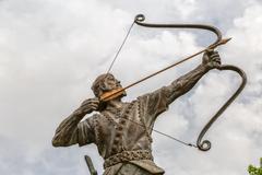 Aresh with bow and arrow Stock Photos