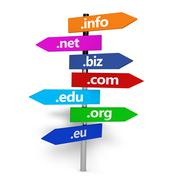 Web Internet Domain Names Signpost - stock illustration
