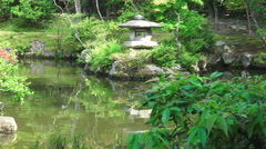 Relfections In Pond Of Japanese Garden Stock Footage