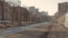 Smooth decrease Blur city Street Stock Footage
