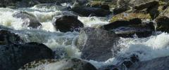 Mountain river flow threshold Stock Footage