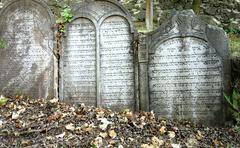 Tombstones stone monuments - stock photo