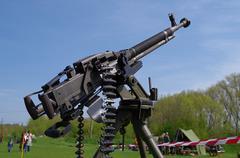 Heavy machine gun - stock photo
