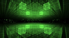 Data Flow, Green Geometrical Horizon, Communication Concept Stock Footage