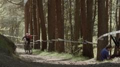 Enduro Mountain Bike Competition - Scotland Stock Footage