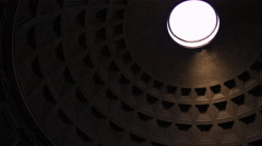 The Oculus Inside the Pantheon In Rome, Italy 4K Stock Video Footage Stock Footage