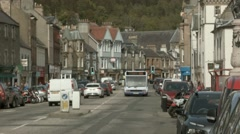 Peebles town Centre Stock Footage
