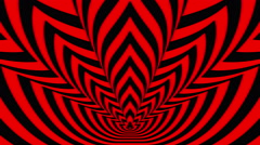 Concentric oncoming symbols red-black flame - stock footage