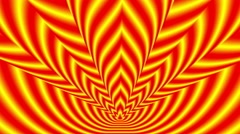 Concentric oncoming symbols red-yellow blurred flame Stock Footage