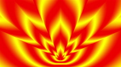 Concentric oncoming symbols red-yellow blurred flame - stock footage