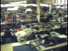 TEXTILE WORKERS/SLAVE LABOUR/FACTORY Stock Footage