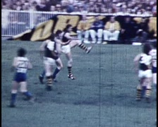 AUSTRALIAN FOOTBALL ARCHIVE FOOTAGE (COLOR) Stock Footage
