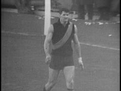 Australian Football (AFL) Players (B&W) - stock footage